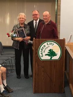 Garden City Planning Commissioner Harriette Batchik (left), Mayor Randy Walker and Wil Pistor, Planning Commission chairman.