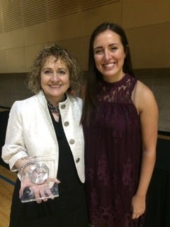 YMCA Advocacy Award recipient Linda Rose attended this year's Living Our Cause event with daughter Lia Busse.
