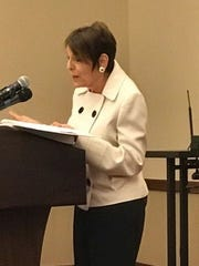 Rabbi Lynne Landsberg, of Staunton, speaking at the