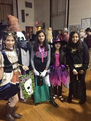 Fifth graders Gianella Sanchez, Tania & Jasmine Patel