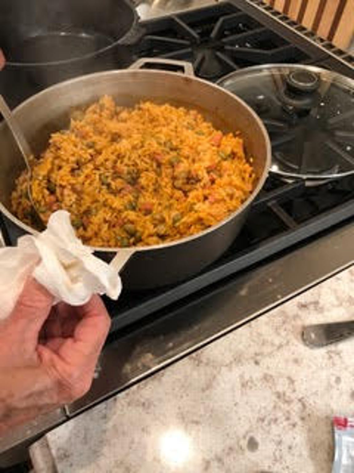 Pigeon pea and rice dish