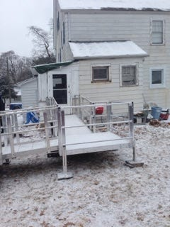 The South Plainfield Knights of Columbus Council 6203 built a ramp for Reggie Willis in South Plainfield.