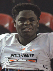 Three-star junior defensive tackle LeDarrius Cox of McGill-Toolen Catholic High School.