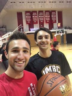 Owen Kleppe (right) hit two halfcourt shots at Assembly Hall to earn $12,000. Also pictured is his brother Luke Kleppe. The shots were taken during an event close to their hearts.