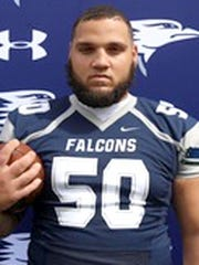 Defensive lineman Savion Williams of Lackawanna (Pa.) CC