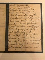 The letter from letter Nancy Specht's mom's Uncle Vincenzo from 1933.