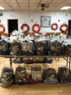 A picture of the gift baskets that were given to local veterans on Wednesday, Dec. 23.