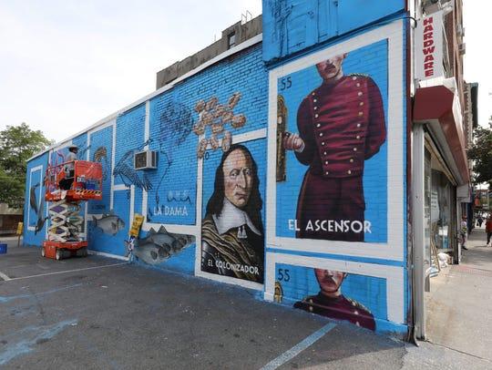 A new public art project painted by Werc Alvarez, is