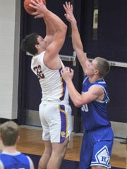 Campbell County senior Tanner Lawrence puts up a shot.