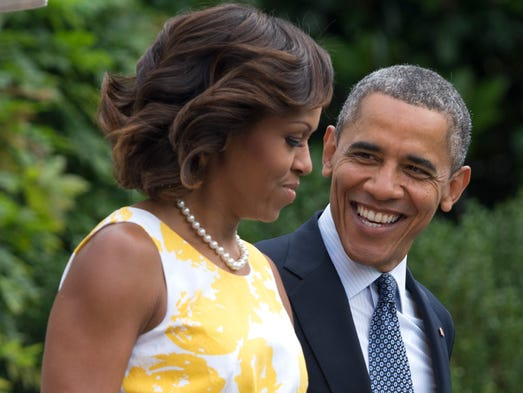 Michelle Obama's weekend plans remain a mystery, but the first couple, seen in this photo taken in Washington in 2013, may want to visit one of these 12 locations while in the Coachella Valley.