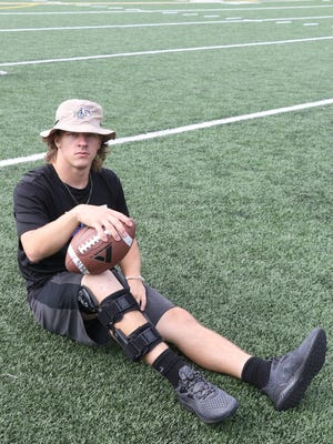 North Mason's Garrett Borah is sidelined for the season after suffering a knee injury during practice.