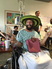 Matt Felton turned 46 two days after his accident, and even so soon after the amputation of his legs, he was the life of a birthday party at the hospital.