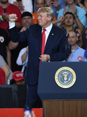 President Donald Trump during the McMaster-Trump Rally in West Columbia Monday, June 25, 2018.