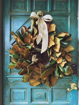 Fresh Magnolia wreaths by artist Sarah Sandin will be available at The Stables' art market noon-5 p.m. Dec. 13 on Savannah's east side, 7 Rathborne Drive.
