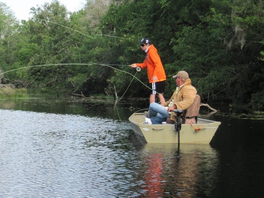 This young fly fisherman took part in a previous 4-H Fly Fishing Series sponsored by the Brevard County Extension Service.