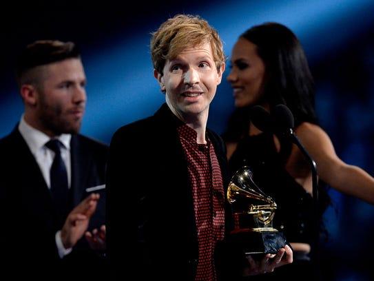 Beck won a pair of Grammys including album of the year.