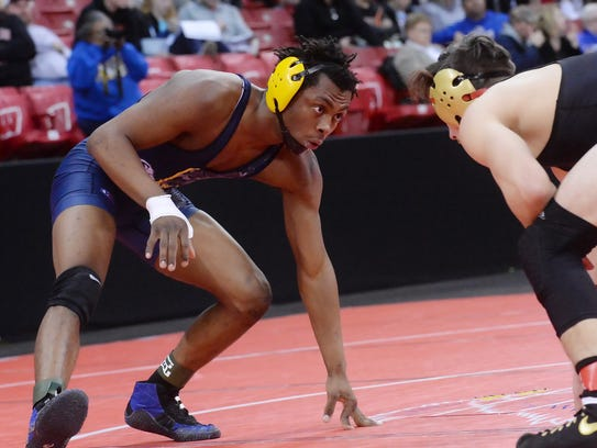 Germantown's Waymon McNeal competes at 145 pounds in