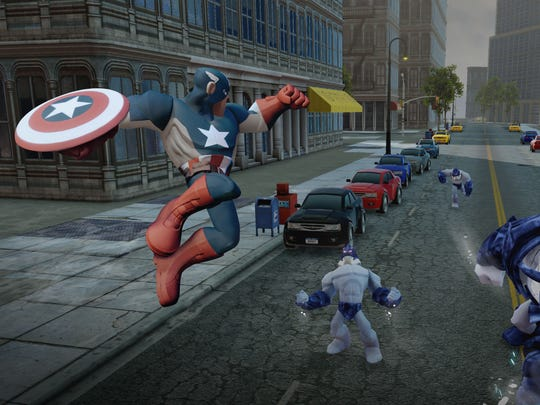 """Captain America is one over several characters available through extra toy packs for """"Disney Infinity: Marvel Super Heroes."""""""