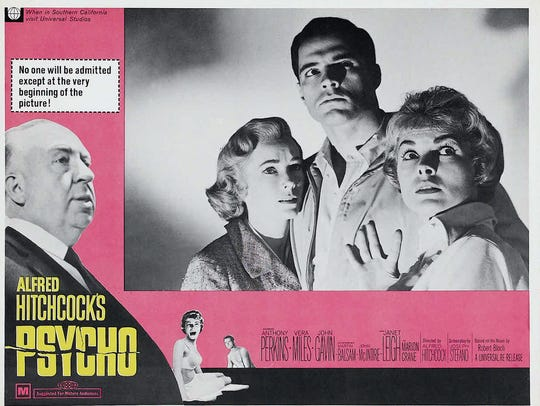 Alfred Hitchcock's shower shocker screens Saturday