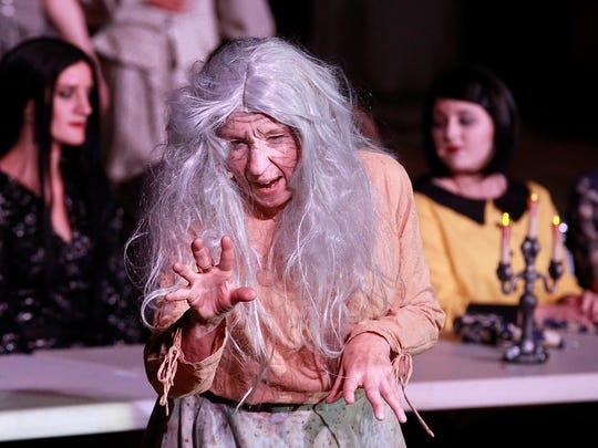 "Caroline Creyke portrays Grandma in the Sandstone Productions presentation of ""The Addams Family."""