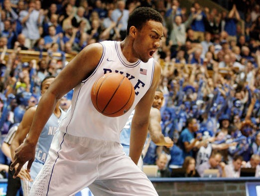 Jabari Parker, Duke: 30 points on 10-17 shooting, 8-9 from the free throw line and 11 rebounds in the Blue Devils' 93-81 win over North Carolina.