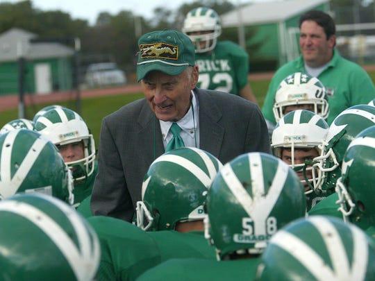 Brick,11-25-06,photo by Shawn Huber Brick head coach WArren Wolf
