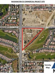 Indio-based Chandi Group USA is proposing a commercial development that would include a gas station and convenience store on the southeast corner of Washington Street and Avenue 50 in La Quinta.