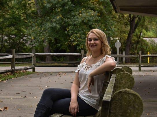 Mount St. Joseph University senior Maria Bruce has