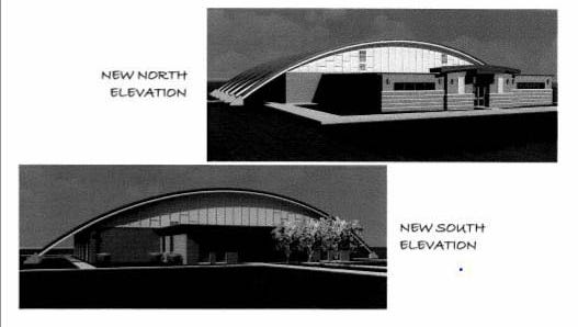 Renderings show the proposed new look for the town rec center named after the late mayor.