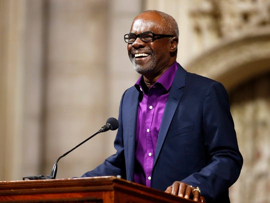 Actor Glynn Turman shares a recollection about Ruby Dee during a memorial service for the actress.