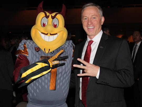 Mayor John Giles does the Arizona State University