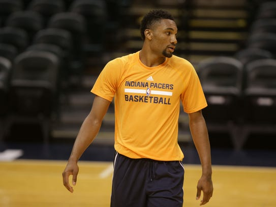 Zak Irvin, of Michigan, during his workout for the