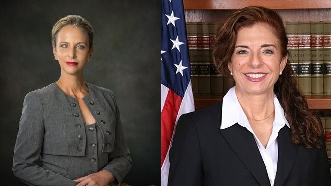 Robin Lemonidis and Brooke Deratany Goldfarb are in the running for Brevard-Seminole Circuit Judge Group 14.