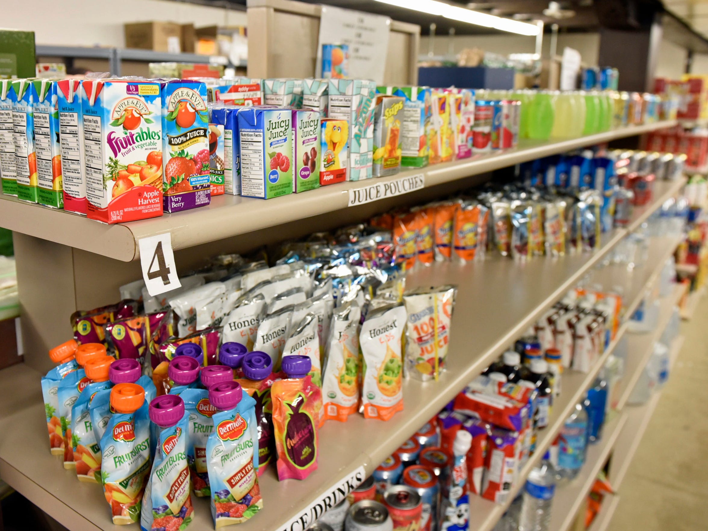 Shelves are filled with food Thursday, June 16, 2016