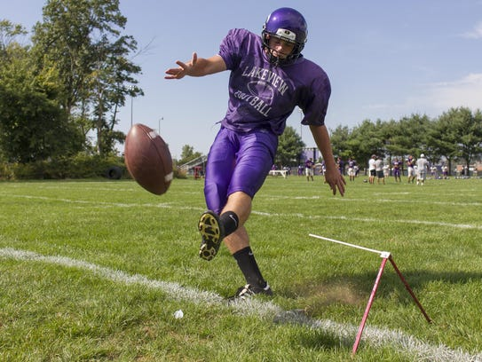 Lakeview's Jake Herbers was an All-State kicker for