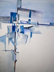 Tom Cullins' 'Ode to de Stijl' watercolor.