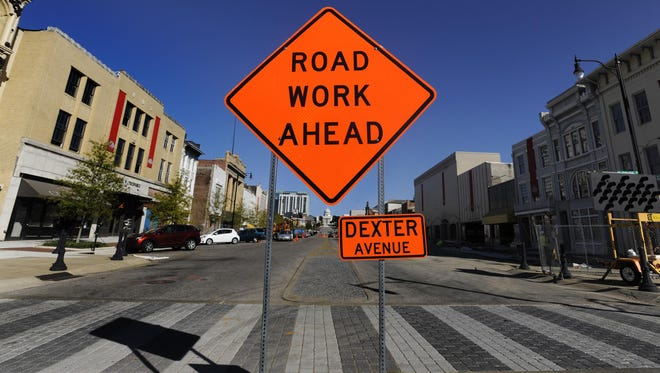 Road work will affect traffic and parking on and around Dexter Avenue this week.