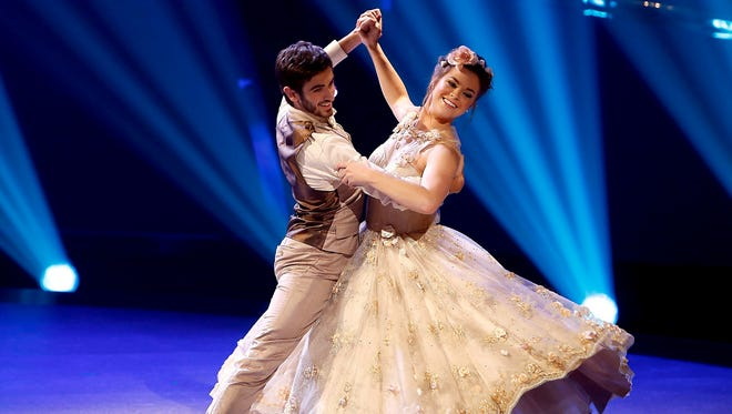 """Franklin Central High School graduate Valerie Rockey, right, is seen dancing a waltz with partner Ricky Ubeda during the July 16 episode of """"So You Think You Can Dance."""""""