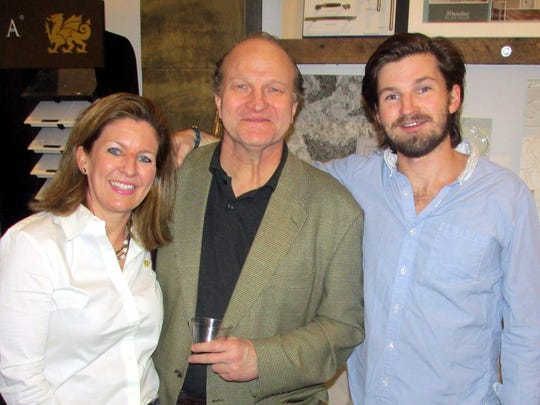 From left, Sharon, Durant and Carson Fleming were at the Exceed Kitchen & Bath party.