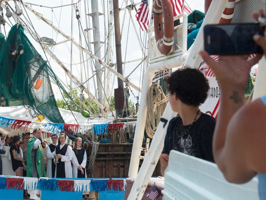 The annual blessing of the shrimp fleet is an important part of the Delcambre Shrimp Festival.