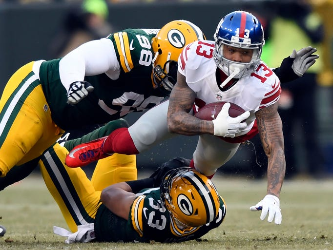 New York Giants wide receiver Odell Beckham (13) with