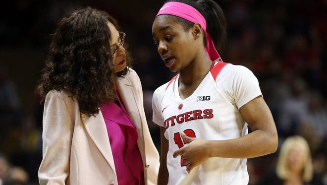 Rutgers coach C. Vivian Stringer has had to rely too much on freshmen like Khadaizha Sanders because of depth issues.