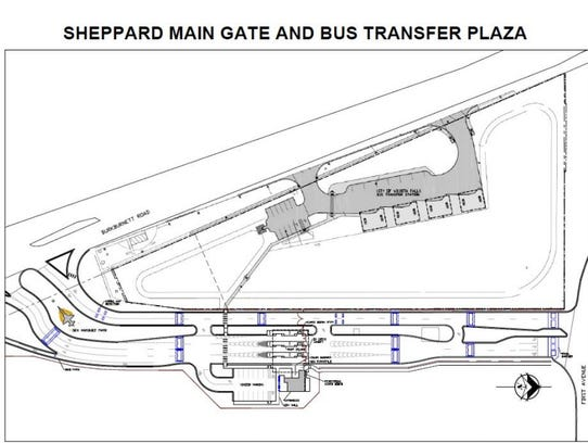 Rendering of plan for construction to aid security