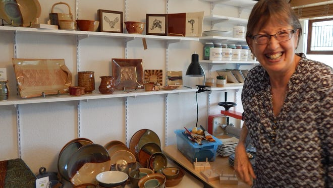 Karen McCort was exposed to pottery in a classroom setting, she took the class when she was teaching at ENMU herself.