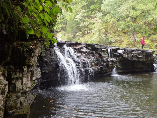 Guided hikes, like this one to the falls on Richland
