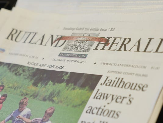 Rutland Herald newspaper