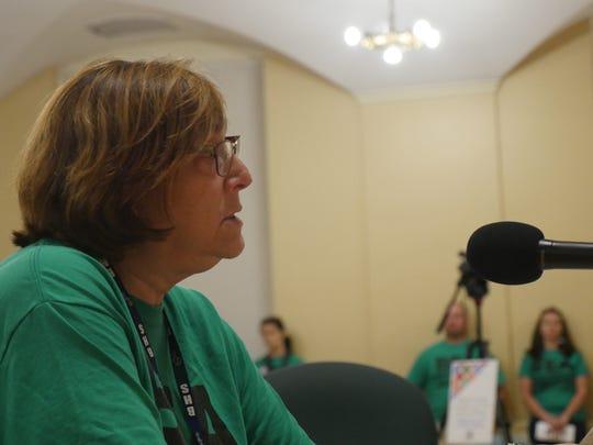 Fran Brock, president of the Burlington Education Association,