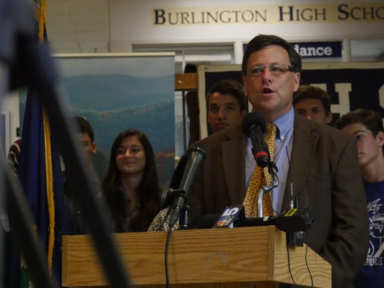 Scott Giles, president of the Vermont Student Assistance Corporation, announced a grant that will allow VSAC to continue a college preparation program  for low income and first generation students that starts as early as sixth grade.