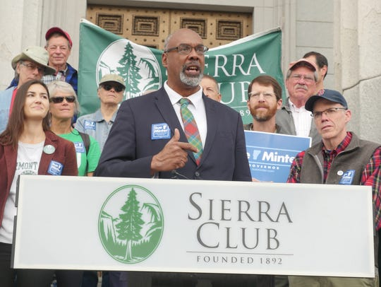 Aaron Mair, president of the Sierra Club threw his