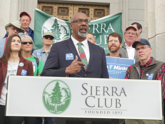 "Aaron Mair, president of the Sierra Club threw his support behind democratic gubernatorial candidate Sue Minter Sunday. ""Supporting Sue is a down payment in our future,"" he said."